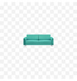 realistic couch element of vector image vector image