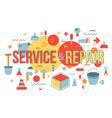 repair shop word concept banner design vector image