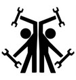 repairmen double symbol vector image vector image