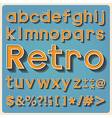 Retro type font vintage typography EPS10 vector image vector image
