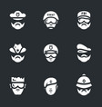 set of police people icons vector image vector image