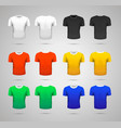 set realistic sport t-shirts in white black vector image