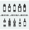 set symbols bottle alcohol vector image