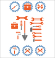 set tool vector image vector image