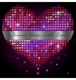 shiny rhinestone heart vector image