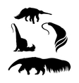 silhouettes of a ant-eater vector image vector image
