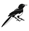 small magpie icon simple style vector image