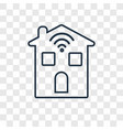 smart home concept linear icon isolated on vector image