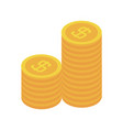 stack coins money cash currency icon isometric vector image vector image