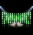 stage podium with spotlights on dark background vector image vector image