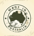 Stamp with map of Australia vector image vector image
