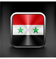 Syria flag national travel icon country symbol vector image