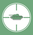 tank in a sight vector image vector image