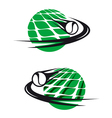 tennis sports elements vector image vector image
