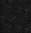 Textured black plastic three spirals vector image vector image