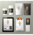 The anchors coffee identity template design set vector image