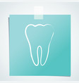tooth handdrawn outline icon vector image vector image