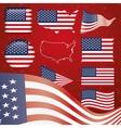 united states america symbol set vector image