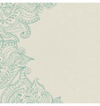 Vintage ornamental lace invitation on the seamless vector image