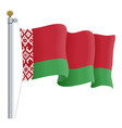 waving belarus flag isolated on a white background vector image