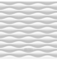 White seamless wavy background vector image vector image