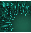 Abstract electronics blue background vector image