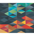 Colorful triangles ornament vector image