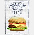 outline fastfood for design vector image