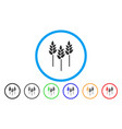 wheat ears rounded icon vector image
