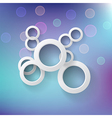 Abstract background with round shapes and light vector image vector image