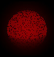 abstract circle dotted red background vector image vector image