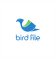 bird file abstract logo vector image