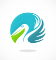 bird pelican beach logo vector image