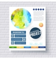 Business report design template vector image vector image