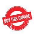 buy this garage rubber stamp vector image vector image