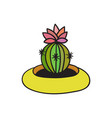 cactus with black contour vector image