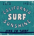 California vintage stamp vector image vector image