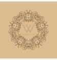 Calligraphic elegant floral monogram design vector image