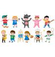 cartoon kids hobbies children creative musical vector image vector image