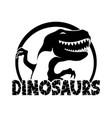 cheerful black dinosaur vector image vector image