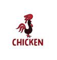 chicken design template vector image