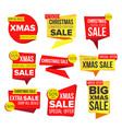 christmas sale banner collection online vector image vector image