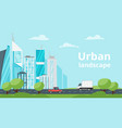 city landscape urban skyline vector image vector image