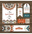 Collection of banners flyers or invitations with vector image vector image