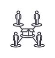 crowdfundingpeople network line icon sign vector image vector image