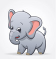 cute infant elephant character baby vector image vector image