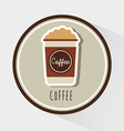 delicious coffee vector image vector image