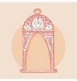 Design element for wedding greeting card Vintage vector image