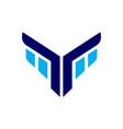 eagle face abstract icon logo vector image vector image