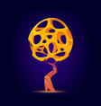 fantasy tree with full holes crown for ui game vector image vector image